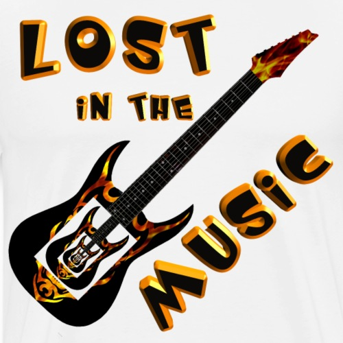 Lost in the Music - Men's Premium T-Shirt