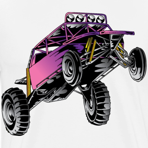 Pink Stunt Buggy - Men's Premium T-Shirt