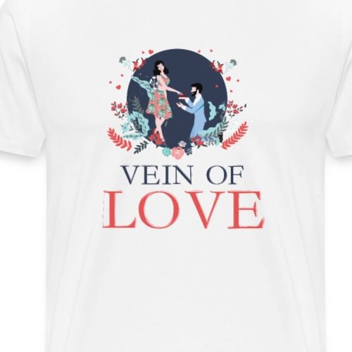 Vein Of Love - Men's Premium T-Shirt