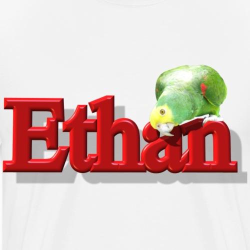 Ethan With a Parrot - Men's Premium T-Shirt