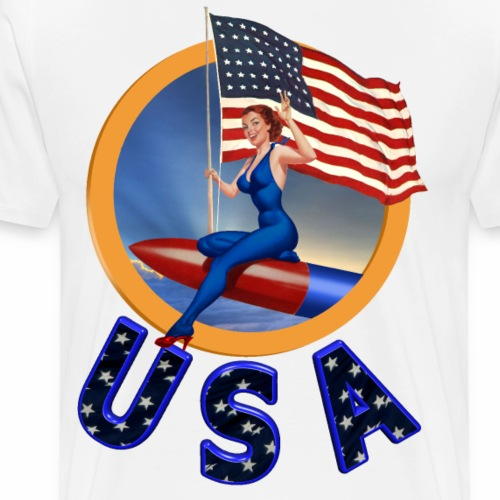 Flag USA - Men's Premium T-Shirt