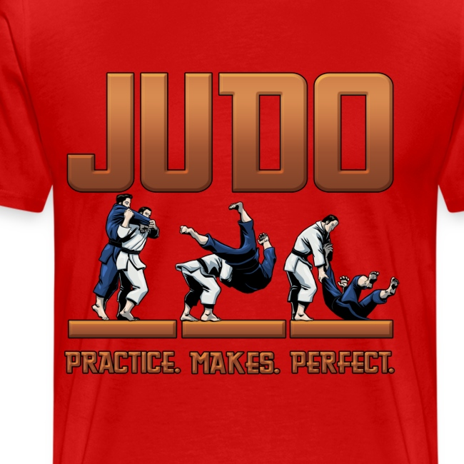 Judo Practice Makes Perfect Design