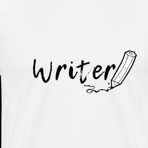 Writer | Handwritten Pencil - Men's Premium T-Shirt