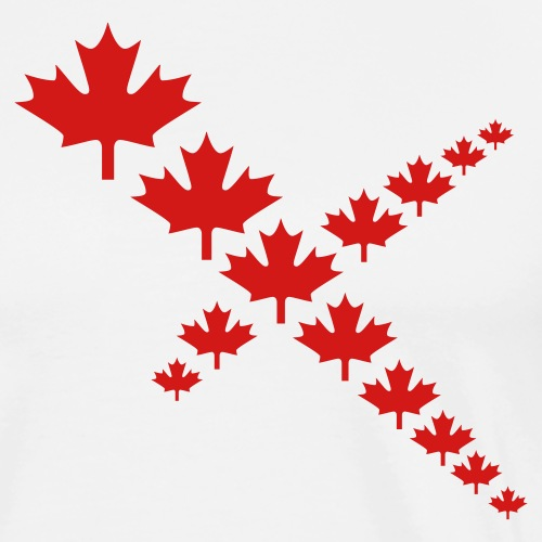 Maple Leafs Cross - Men's Premium T-Shirt