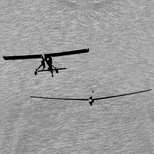 glider pilot with tow pilot - Men's Premium T-Shirt