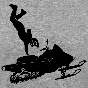 Snowmobil Stunts - Men's Premium T-Shirt