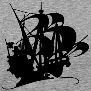 Pirate ship silhuette 3 - Men's Premium T-Shirt
