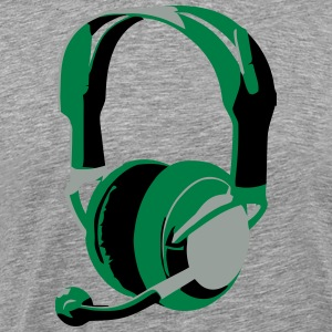 Gaming Headphones - Men's Premium T-Shirt