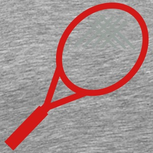 tennis - racket - match - Men's Premium T-Shirt