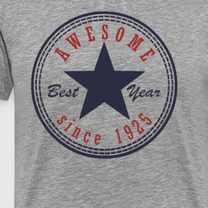 92nd Birthday Awesome since T Shirt Made in 1925 - Men's Premium T-Shirt