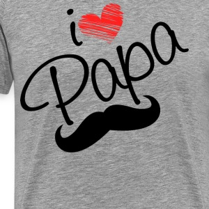 I Love Papa T Shirt - Men's Premium T-Shirt