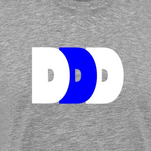 Plain DDD White/Royal/White - Men's Premium T-Shirt