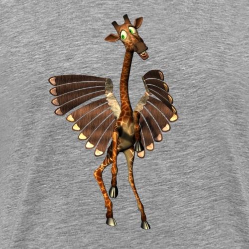 Funny giraffe with wings - Men's Premium T-Shirt