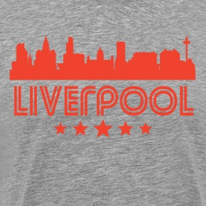 Retro Liverpool Skyline - Men's Premium T-Shirt