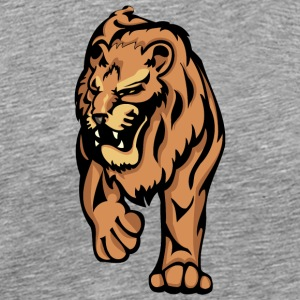 walking_angry_lion - Men's Premium T-Shirt