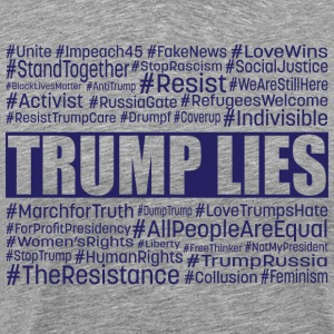 Trump Lies Resistance - Men's Premium T-Shirt