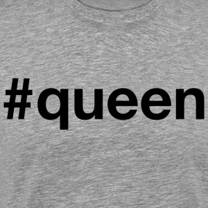 Queen - Hashtag Design (Black Letters) - Men's Premium T-Shirt