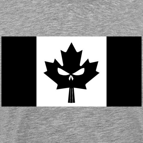 Black Canadian Skull Flag - Men's Premium T-Shirt