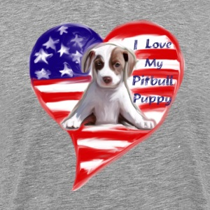 I Love My Pitbull Puppy. - Men's Premium T-Shirt