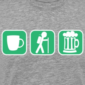 Coffe Hike Beer - Men's Premium T-Shirt