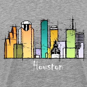 Houston skyline shirt - Men's Premium T-Shirt