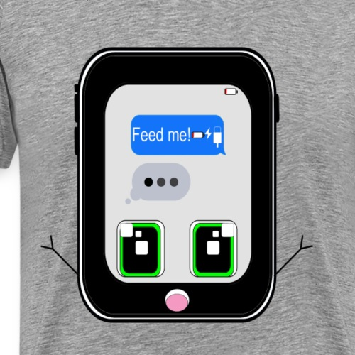 iPhone Feed Me (white) - Men's Premium T-Shirt
