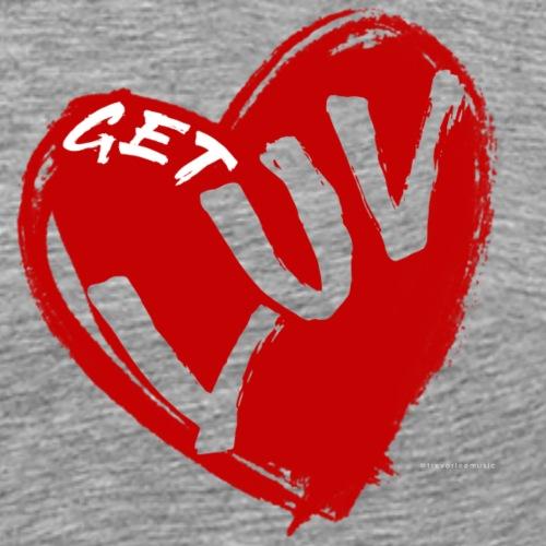 Get Luv - Trevor Lee Music (Red 2) - Men's Premium T-Shirt