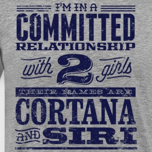Cortana and Siri - Men's Premium T-Shirt