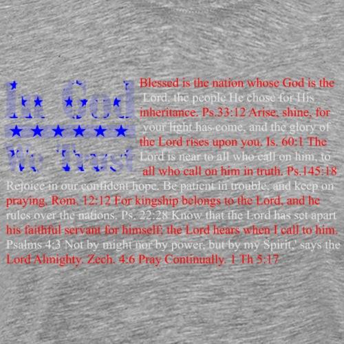 In God We Trust Flag - Men's Premium T-Shirt