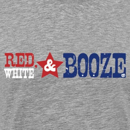 red white booze - Men's Premium T-Shirt