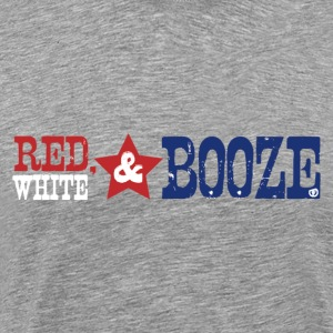 red white booze - Men's Premium T-Shirt