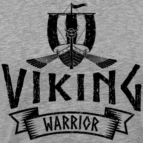 Viking Warrior Dragon Boat - Men's Premium T-Shirt