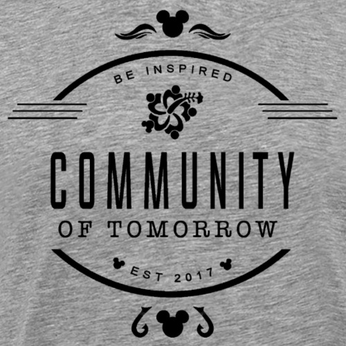 Community Of Tomorrow Be Inspired (Black) - Men's Premium T-Shirt