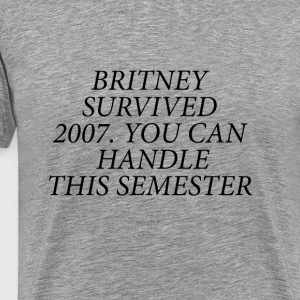 Britney Survived 2007 Black - Men's Premium T-Shirt