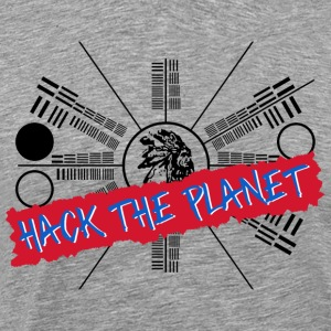 Hack the Planet T Shirt - Men's Premium T-Shirt