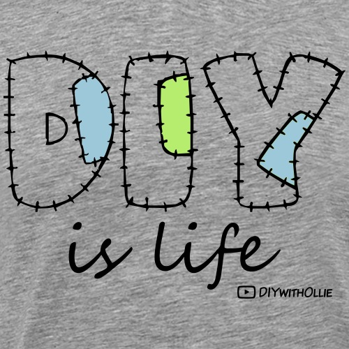 DIY is Life (Black Text) - Men's Premium T-Shirt