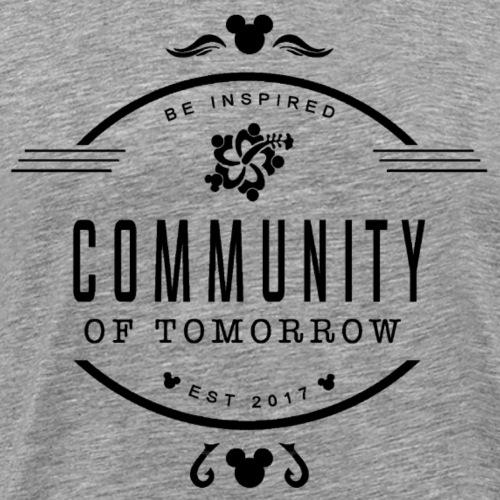 Community Of Tomorrow Be Inspired (Black) - Men's Premium T-Shirt