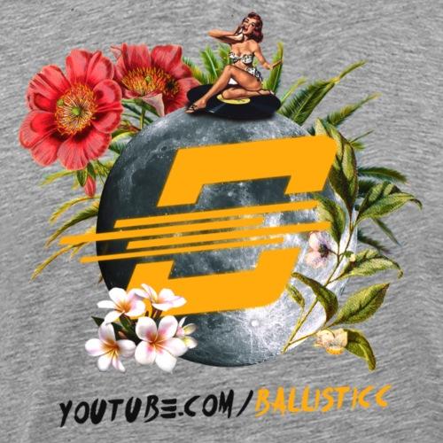 Ballistic's Floral Moon Design! - Men's Premium T-Shirt