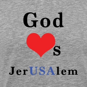 God_Loves_JerUSAlem - Men's Premium T-Shirt