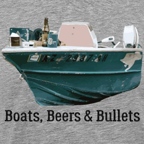 Boat and Bullets - Men's Premium T-Shirt