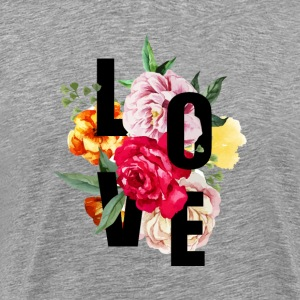 Love (Flowers) - Men's Premium T-Shirt