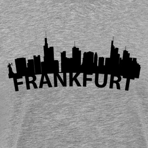 Arc Skyline Of Frankfurt Germany - Men's Premium T-Shirt