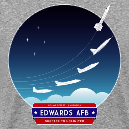 Edwards Air Force Base - red/blue logo - Men's Premium T-Shirt