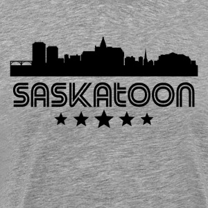 Retro Saskatoon Skyline - Men's Premium T-Shirt