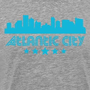 Retro Atlantic City Skyline - Men's Premium T-Shirt
