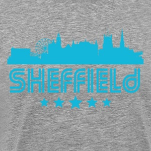Retro Sheffield Skyline - Men's Premium T-Shirt