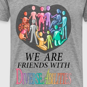 We Are Friends With DiverseAbilities - Men's Premium T-Shirt