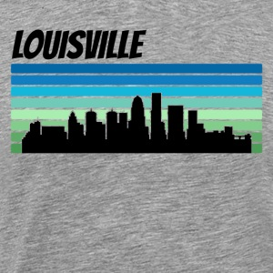 Retro Louisville Skyline - Men's Premium T-Shirt