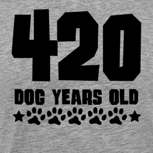 420 Dog Years Old Funny 60th Birthday - Men's Premium T-Shirt