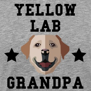 Yellow Lab Grandpa Granddog - Men's Premium T-Shirt